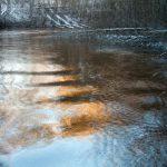 Tammikuun värit Nukarinkoskella, monivalotusvalokuva