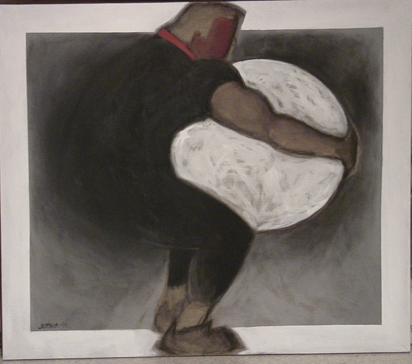 Sarjasta TAVOITE: Iso pallo, hiili/akryyli, 2004