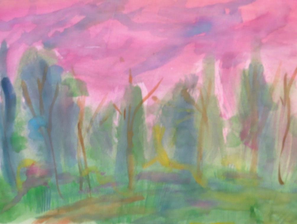 Elokuu, akvarelli