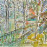 Vanha Talo Polun Päässä, akvarelli