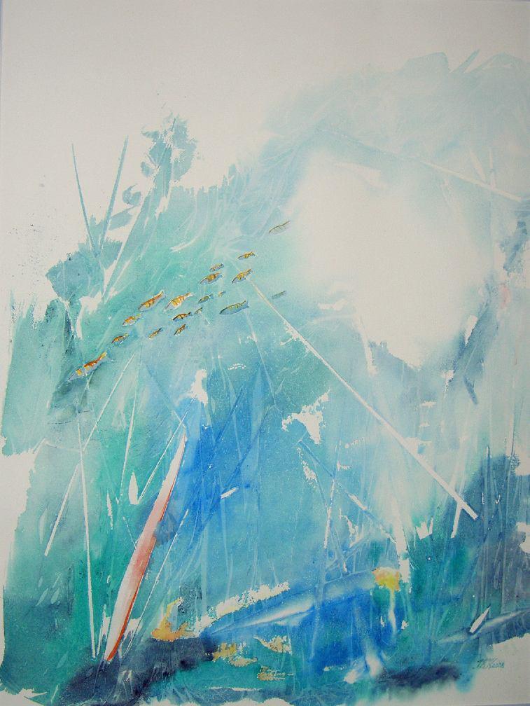 Veden alla, 2009 akvarelli