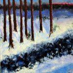 Talven puut, akryyli 2016 (90*90)