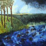 Myrsky nousee, akryyli 2015 (90*90)