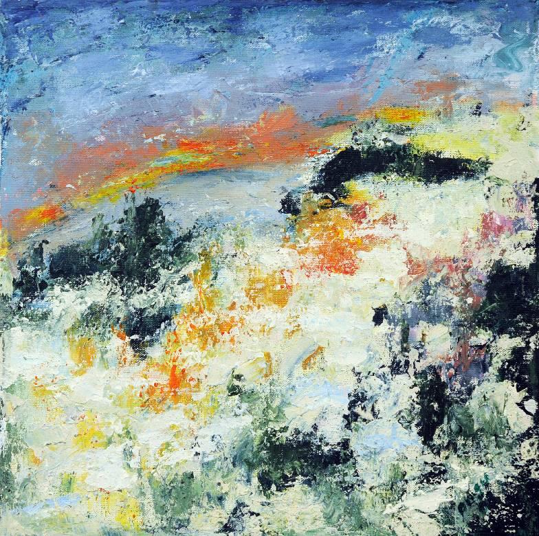 Kajastus, akryyli 2008 (40*40)