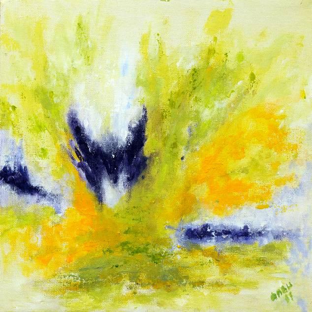 Kevät1, akryyli 2001 (30*30)
