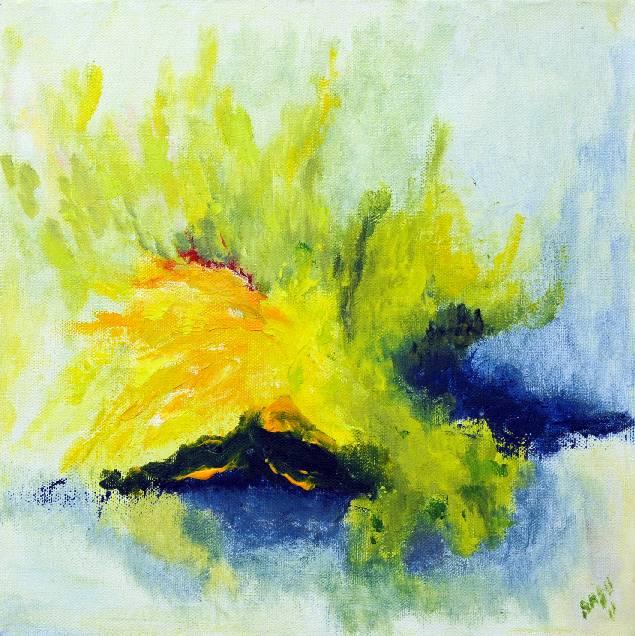 Kevät2, akryyli 2001 (30*30)