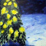 Naapurin jouluvalot, akryyli 2014 (90*90)