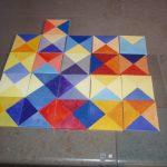 Värineliöt: vapaasti koottava akryylimaalaus