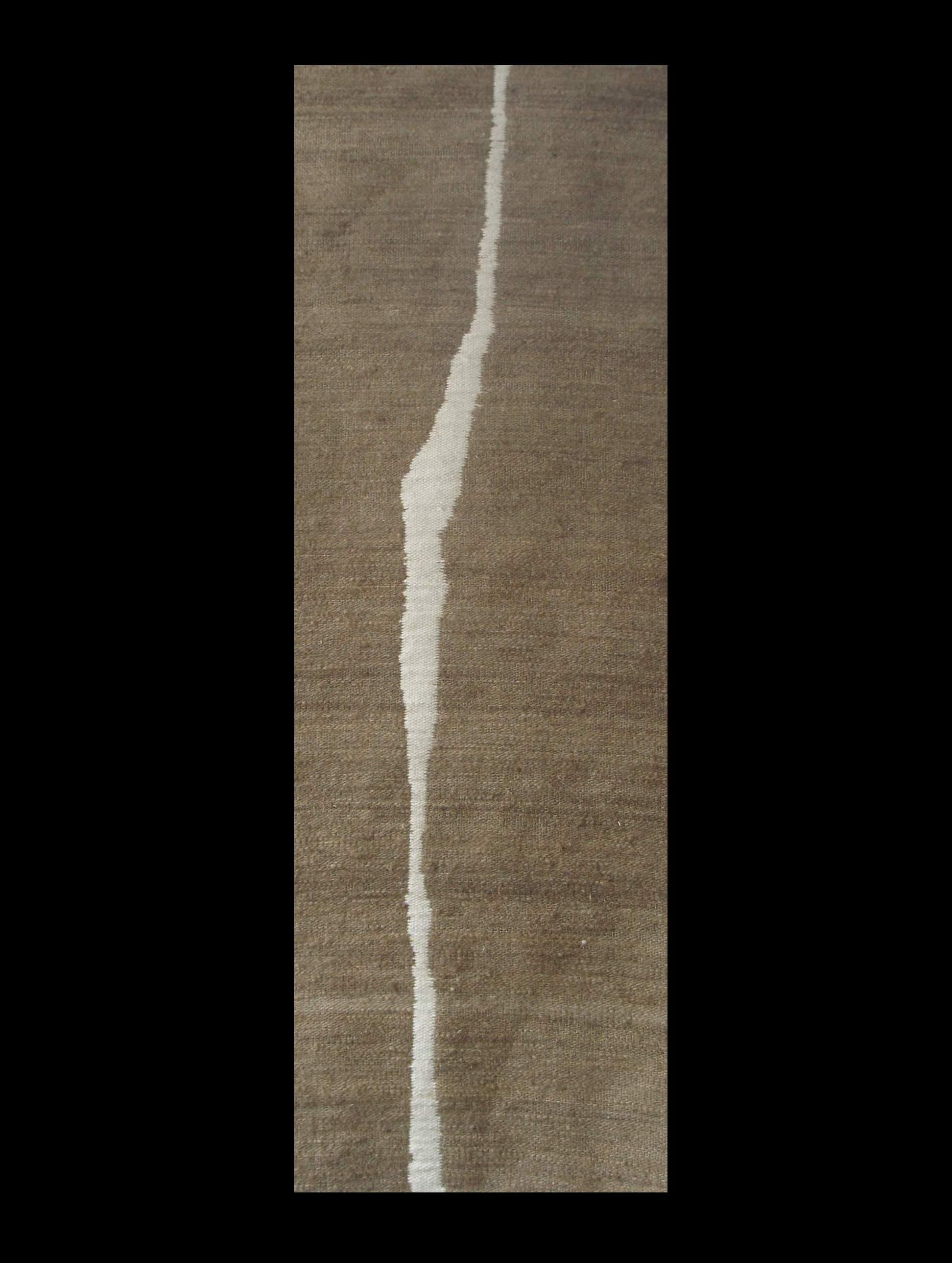 Valojuova, täkänä pellavaa (2-puoleinen tekstiili)