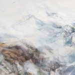 Fog Over the Mountains, mixed media on paper, 30x110cm, 2015
