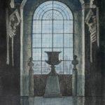 Ikkuna Roomasta, kuivaneula akvatinta, 1998