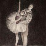 Tanssipari, etsaus akvatinta, 2012