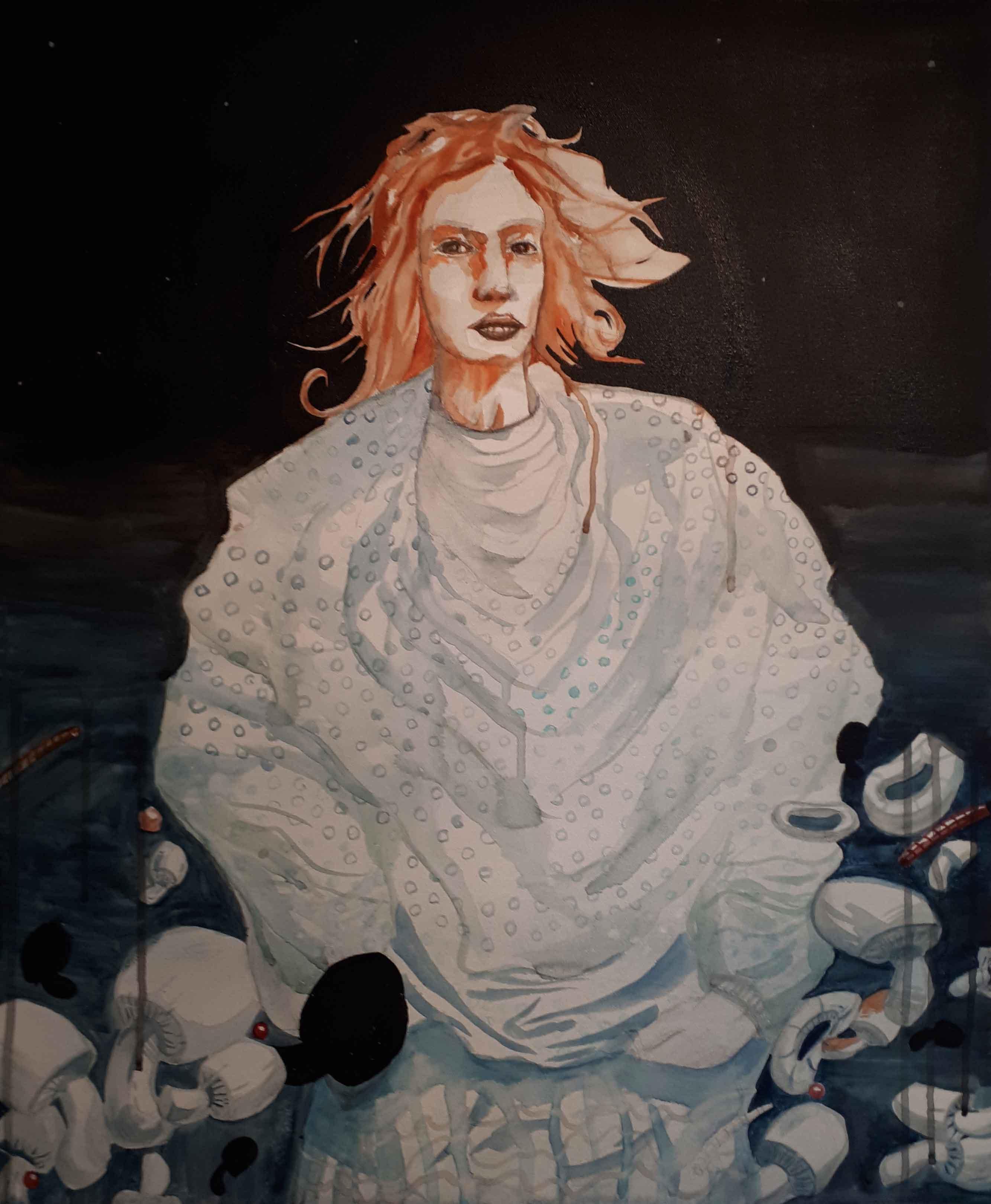 Blue, Akvarelli ja akryyli