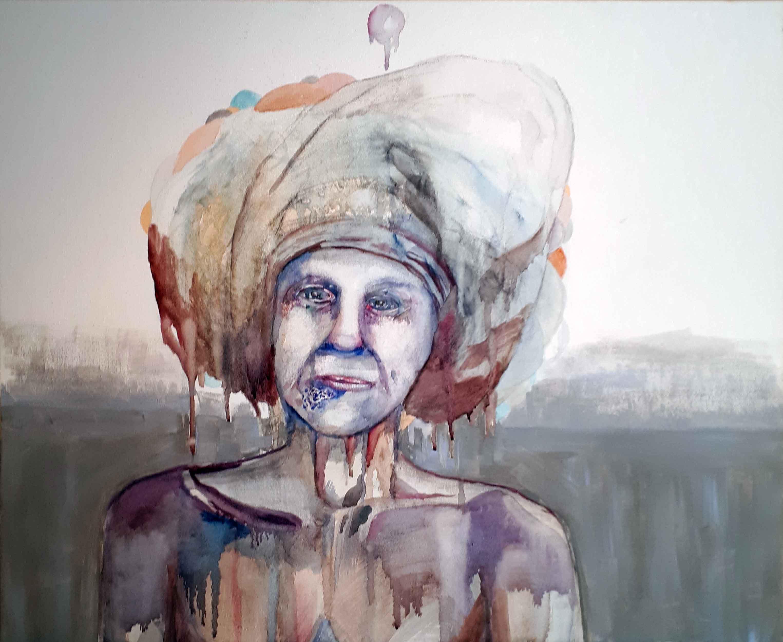 Turban, Akvarelli ja akryyli