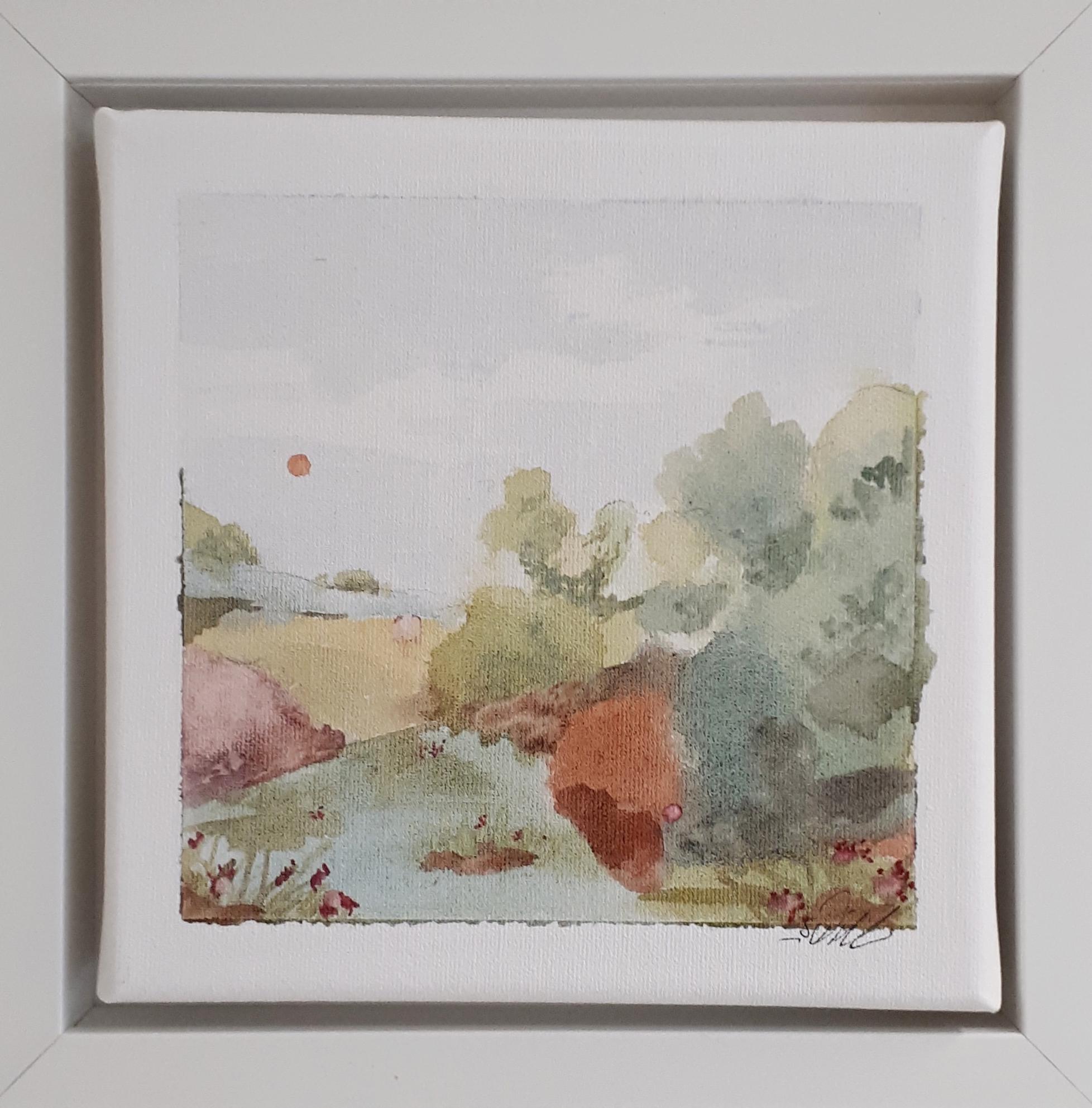 Maisema, akvarelli