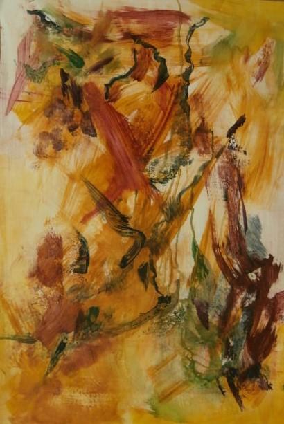 Kareno Maarit, Unen liike, sekatekniikka, 60x80 cm, 2017