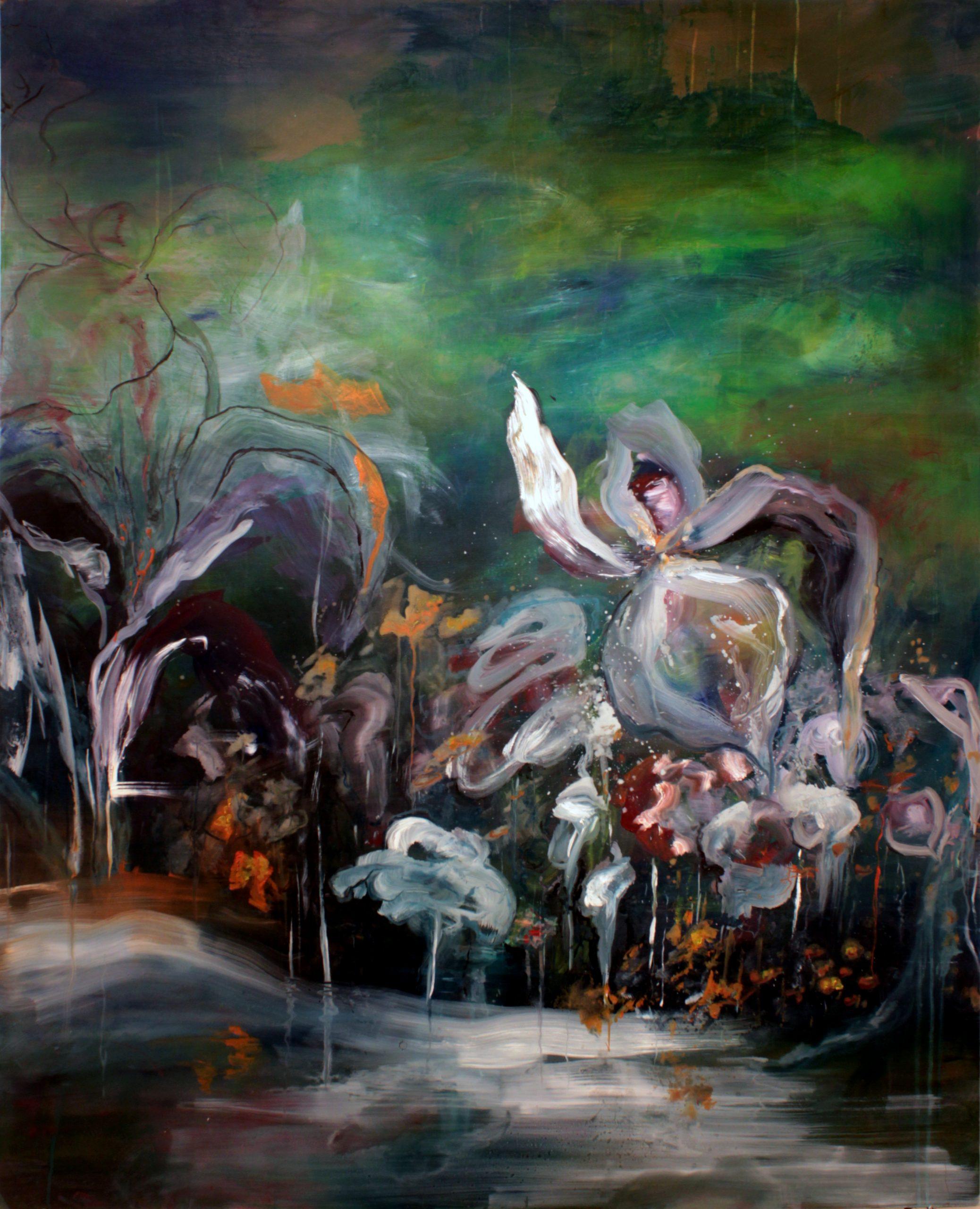 """Not out of the woods yet"", 122x152cm, öljy mdf.levylle, 2016 (yksityisomistuksessa)"